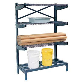 "Cantilever Rack Shelving 48 "" W x 24"" D x 72"" H, 600 Lbs Capacity"