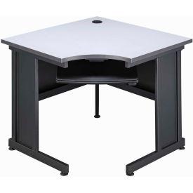 """36"""" Corner Desk Gray"""