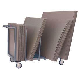 "Jamco Cardboard Carton Truck CS248 Single Level 48 x 24 5"" Polyurethane Casters"