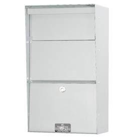 Jayco LLVW Wall Mount Vertical Letter Locker Mailbox White