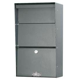 Jayco LLVW Wall Mount Vertical Letter Locker Mailbox Gray