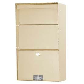 Jayco LLVW Wall Mount Vertical Letter Locker Mailbox Tan