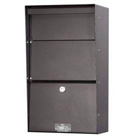 Jayco LLVW Wall Mount Vertical Letter Locker Mailbox Bronze