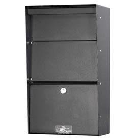 Jayco LLAVW Wall Mount Vertical Aluminum Letter Locker Mailbox Black