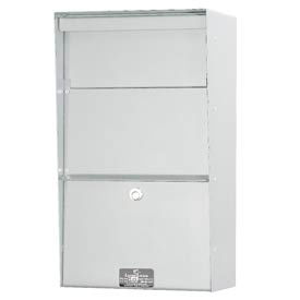Jayco LLAVW Wall Mount Vertical Aluminum Letter Locker Mailbox White