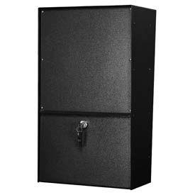 Jayco LLVRW Wall Mount Vertical Rear Access Letter Locker Mailbox Black