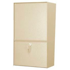 Jayco LLVRW Wall Mount Vertical Rear Access Letter Locker Mailbox Tan