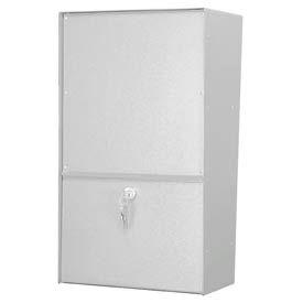 Jayco LLAVRW Wall Mount Vertical Rear Access Aluminum Letter Locker Mailbox White