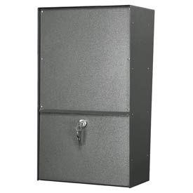 Jayco LLAVRW Wall Mount Vertical Rear Access Aluminum Letter Locker Mailbox Gray