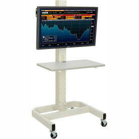 Global Industrial™ LCD/Plasma Portable Workstation - Beige