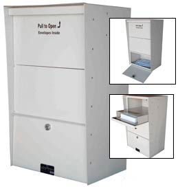 Jayco LLAXLW Wall Mount X-Large Aluminum Letter Locker Mailbox White