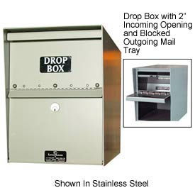 "Heavy Duty Drop Box Locker 1"" Incoming Slot and Envelope Slot White"