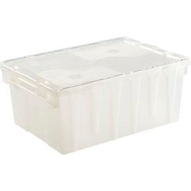 ORBIS Flipak® Attached Lid Container FP143 -21-4/5 x 15-1/5 x 9-4/5, Clear - Pkg Qty 3