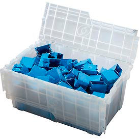 ORBIS Flipak® Attached Lid Container FP243 - 26-9/10 x 17-1/10 x 12-3/5, Clear - Pkg Qty 3