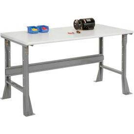 "60""W X 30""D X 34""H ESD Safety Edge Workbench - Gray"