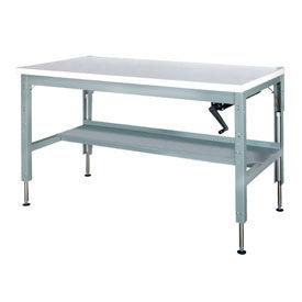48 x 30 Hydraulic Ergonomic Workbench-Plastic Top