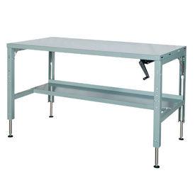 60 x 29 Hydraulic Ergonomic Workbench-Steel Top
