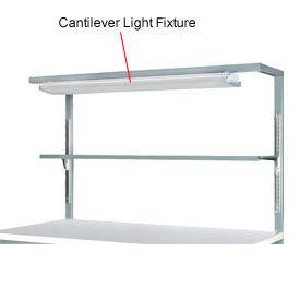 "Cantilever Light Fixture with Shelf-72"""
