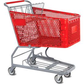 VersaCart® Red Plastic Shopping Cart 6.3 Cu. Foot Capacity 102-165-RED-BH