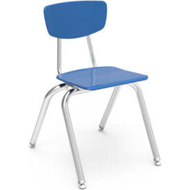 Virco® 3016 Martest 21® Hard Plastic Chair - Light Blue - Pkg Qty 4