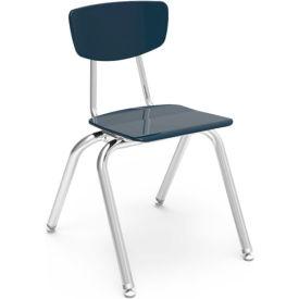Virco® 3016 Martest 21® Hard Plastic Chair - Navy - Pkg Qty 4