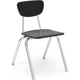 Virco® 3018 Martest 21® Hard Plastic Chair - Black - Pkg Qty 4