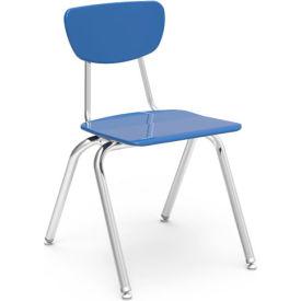 Virco® 3018 Martest 21® Hard Plastic Chair - Light Blue - Pkg Qty 4
