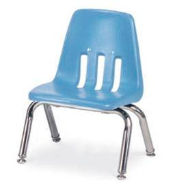 Virco® 9010 Classic Series™ Classroom Chair - Light Blue Vented Back - Pkg Qty 4