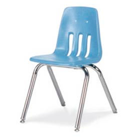 Virco® 9016 Classic Series™ Classroom Chair - Light Blue Vented Back - Pkg Qty 4