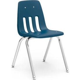 Virco® 9016 Classic Series™ Classroom Chair - Navy Vented Back - Pkg Qty 4
