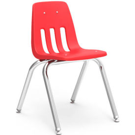 Virco® 9016 Classic Series™ Classroom Chair - Red Vented Back - Pkg Qty 4