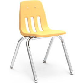 Virco® 9016 Classic Series™ Classroom Chair - Yellow Vented Back - Pkg Qty 4