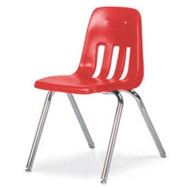"Classic Series Classroom Chair - Red Vented Back - 18-5/8""W x 30-5/8""H"