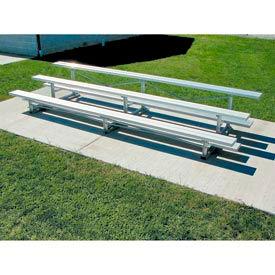 Tip-N-Roll Bleacher - Aluminum Frame, 3 Row 15'W