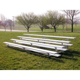Aluminum Bleachers 4 row 15' W