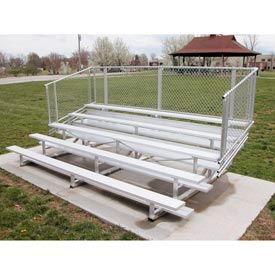 Aluminum Bleachers with Guardrails 5 row 21' W