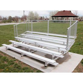 Aluminum Bleachers with Guardrails 5 row 27' W