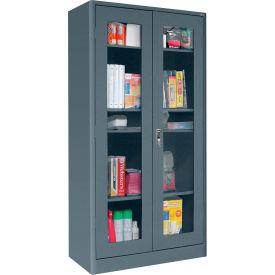 Sandusky Elite Radius Edge Series Clearview Storage Cabinet ER4V361872 - 36x18x72, Charcoal