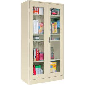 Sandusky Elite Radius Edge Series Clearview Storage Cabinet ER4V361872 - 36x18x72, Putty