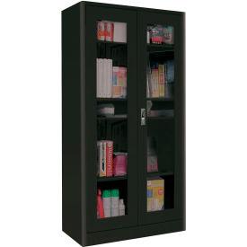 Sandusky Elite Radius Edge Series Clearview Storage Cabinet ER4V361872 - 36x18x72, Black