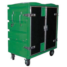 Myton RTC-4829H6 34 Cu. Ft. Green Plastic Security Transfer Truck 950 Lb. Cap.