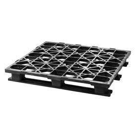 Automotive Rackable Plastic Pallet With 3 Bottom Skids 48x45, 2500 Lbs Cap - Pkg Qty 4
