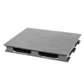 Rackable Plastic Pallet With 6 Bottom Skids 48x40, 3500 Lbs Cap - Pkg Qty 4