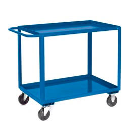 Jamco Blue All Welded 2 Shelf Stock Cart SB130 30 x 18 1200 Lb. Cap.