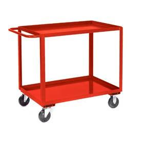 Jamco Red All Welded 2 Shelf Stock Cart SB236 36x24 1200 Lb. Cap.