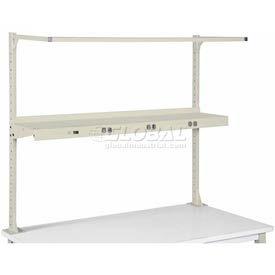 "72"" Shelf with Electrical-Tan"