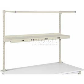 "96"" Shelf with Electrical-Tan"