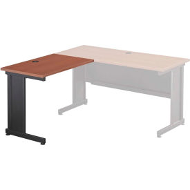 "Interion® 36""W Left Handed Return Table, Cherry"