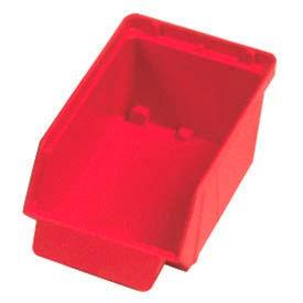 """Quantum Plastic Stack And Lock Bin QCS20 with ID Tab 3-7/8""""W x 7""""D x 2-7/8""""H Red - Pkg Qty 48"""