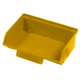 """Quantum Plastic Stack And Lock Bin QCS220 with ID Tab 8-7/8""""W x 7""""D x 2-7/8""""H Yellow - Pkg Qty 24"""